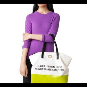 Kate spade tequila is not my friend tote